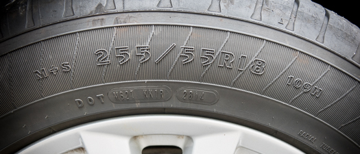 Tire Size on Tire Sidewall