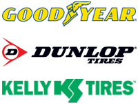 Goodyear Dunlop Kelly Logos